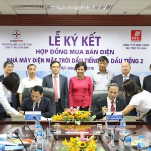 SIGNING CEREMONY OF CONTRACTS FOR PURCHASE AND SALE OF THE SOLAR POWER PLANT DT1 AND DT2