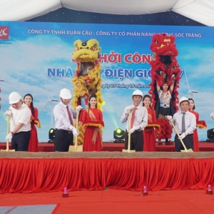 GROUNDBREAKING CEREMONY OF 120MW WIND POWER PLANTS PROJECT IN SOC TRANG