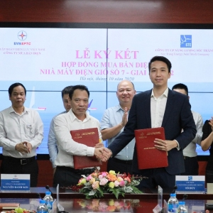 THE SIGNING CEREMONY OF PURCHASE AND SALE CONTRACT FOR WIND POWER PLANT NO.7 Phase2 (Capacity 88.2 MW)